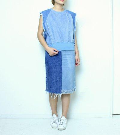 画像2: デニムスカート【circa make denim skirt】