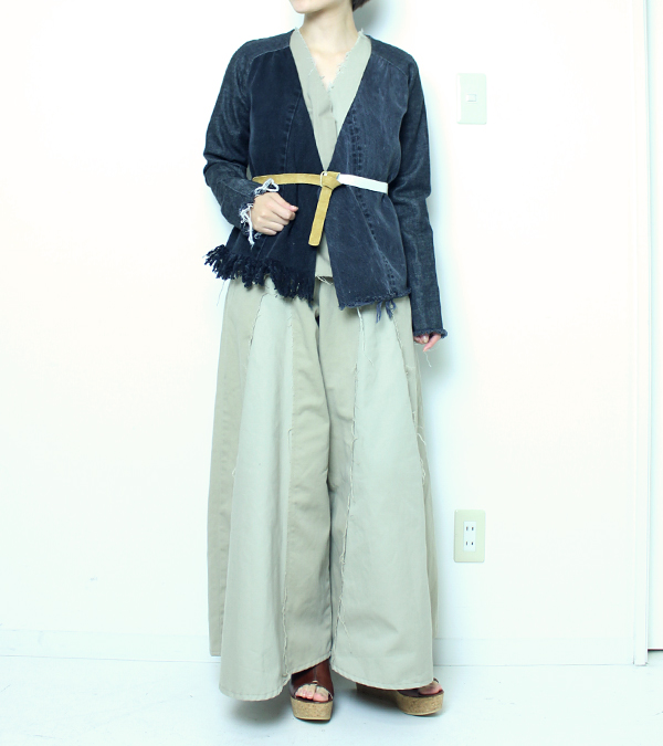 画像2: デニムフリンジジャケット【circa make denim fringe jacket】