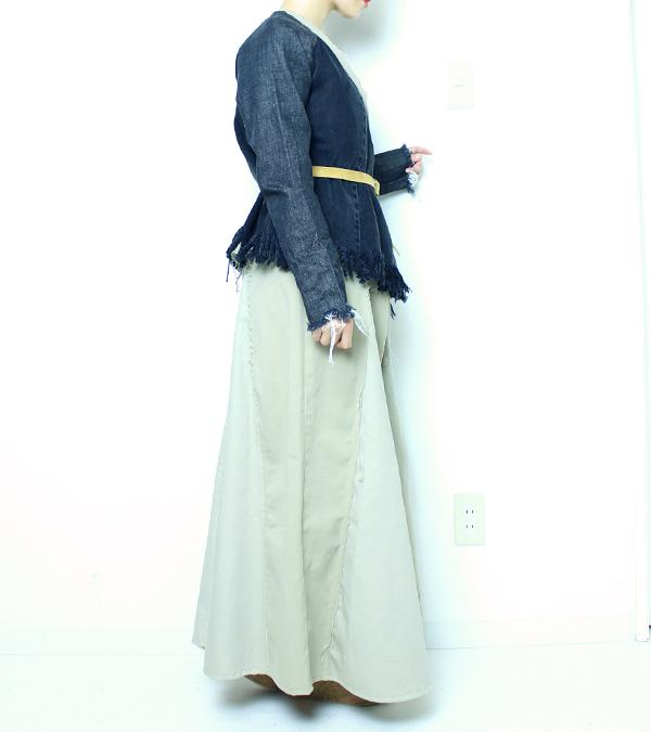 画像3: デニムフリンジジャケット【circa make denim fringe jacket】