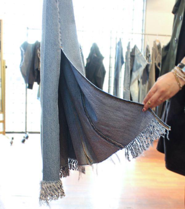 画像3: スイッチングワイドフリンジデニムスカート【circa make switching wide fringe denim skirt】