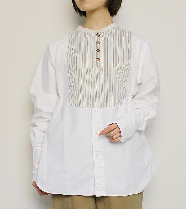画像1: スイッチングロングスリーブヘンリーシャツ【circa make switching l/s henley shirt】