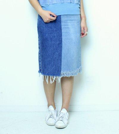 画像1: デニムスカート【circa make denim skirt】