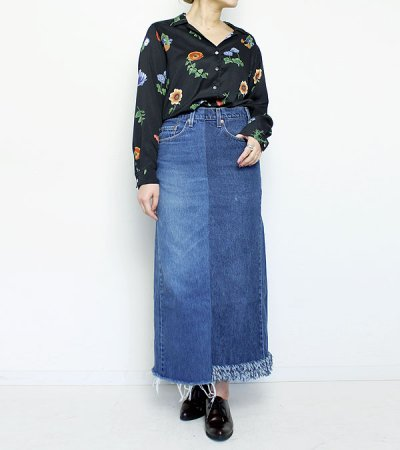 画像2: ロングデニムスカート(length 90)【circa make long denim skirt 】