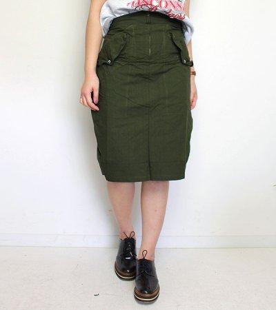 画像1: 30%OFF!オーバーダイミリタリースカート【circa make over dye military skirt】《セール商品につき返品不可》