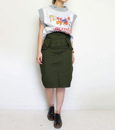 画像2: 30%OFF!オーバーダイミリタリースカート【circa make over dye military skirt】《セール商品につき返品不可》