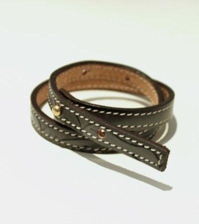 画像3: コンバインナローレザーブレスレット【circa make combine narrow leather bracelet】