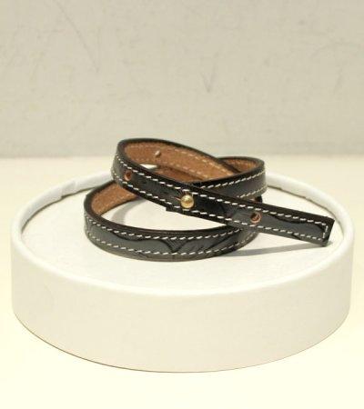 画像2: コンバインナローレザーブレスレット【circa make combine narrow leather bracelet】