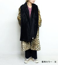 ファーカラーレオパードコート【circa made fur collar leoperd coat】