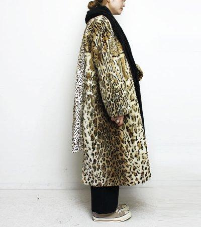 画像2: ファーカラーレオパードコート【circa made fur collar leoperd coat】