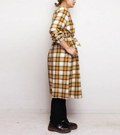 画像2: 20%OFF!レーヨンウールチェックコートドレス【rayon wool check coat dress】《セール商品につき返品不可》