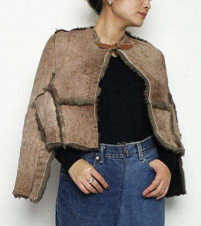 画像1: ムートンショール【circa make mouton shawl】