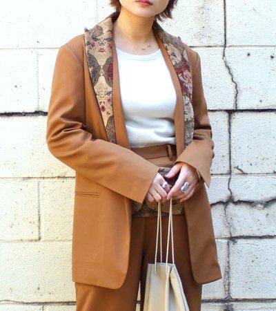 画像1: 30%OFF!ヴィンテージファブリックカラーテーラードジャケット【circa make vintage fabric collar tailored jacket】《セール商品につき返品不可》