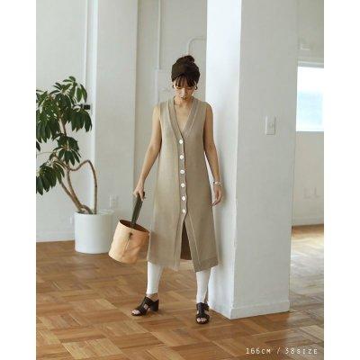 画像2: ニットロングベスト【Knit Long Vest】