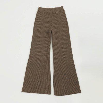 画像1: フレアニットパンツ【Flare Knit Pants】