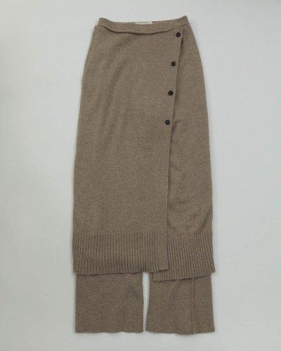 画像1: ラップアラウンドニットスカート【Wraparound Knit Skirt】