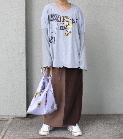 画像2: ロングコーデュロイスカート【circa make long corduroy skirt】