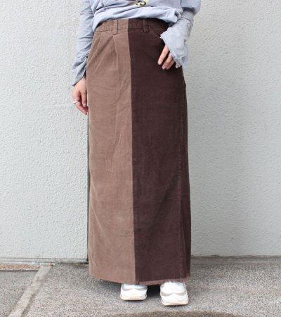 画像1: ロングコーデュロイスカート【circa make long corduroy skirt】