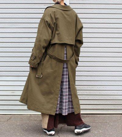画像2: 30%OFF!ネルガウンスリットトレンチコート(レディース)【circa make nel gown slit trench coat(ladies)】《セール商品につき返品不可》