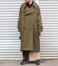 ネルガウンスリットトレンチコート(レディース)【circa make nel gown slit trench coat(ladies)】