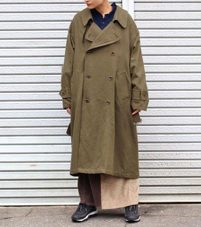 画像1: 30%OFF!ネルガウンスリットトレンチコート(レディース)【circa make nel gown slit trench coat(ladies)】《セール商品につき返品不可》