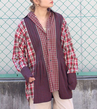 画像1: 20%OFF!ボースサイドタックシャツ【circa make both side tuck shirt】《セール商品につき返品不可》