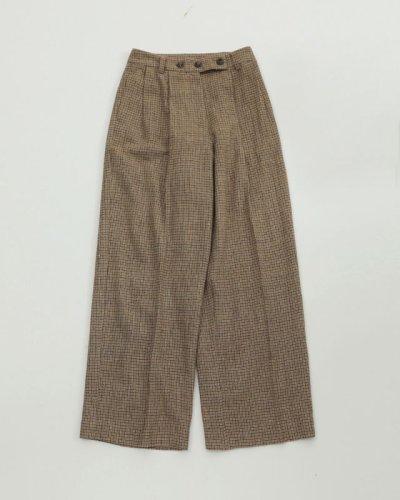 画像1: ウールチェックトラウザー【Wool Check Trousers】