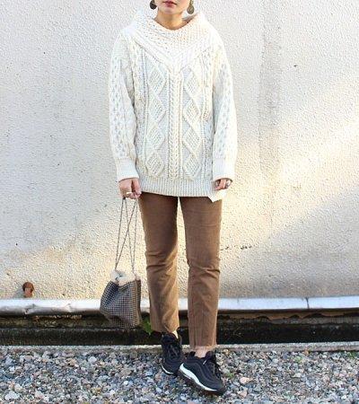 画像2: シックVネックフィッシャーマンセーター【circa make thick v/n fisherman sweater】