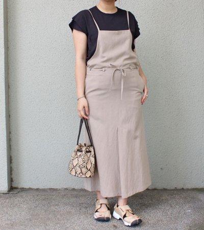 画像1: リヨセルリネンコットンツイルジャンパースカート