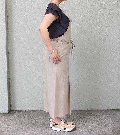 画像2: リヨセルリネンコットンツイルジャンパースカート