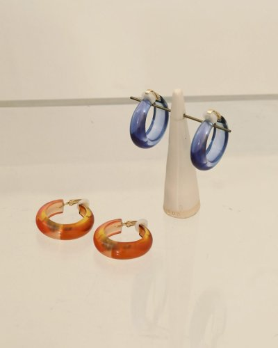 画像1: グラデーションフープイヤリング【Gradation Hoop Earring】