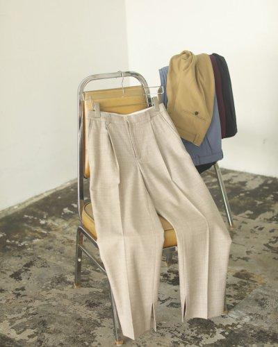 画像1: ジョーゼットスリットパンツ【Georgette Slit Pants】