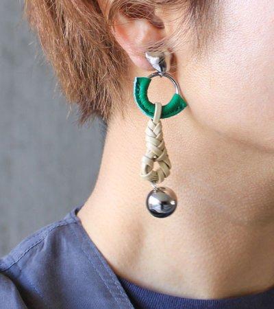 画像2: レザーブレイドイヤリング【Leather Braid Earring】