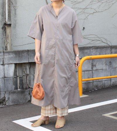 画像1: キーネックロングドレス