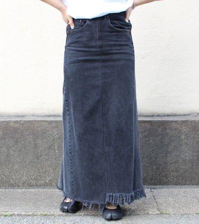 画像1: ロングデニムスカート(length100)【circa make long denim skirt 】