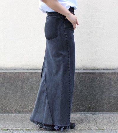 画像2: ロングデニムスカート(length100)【circa make long denim skirt 】
