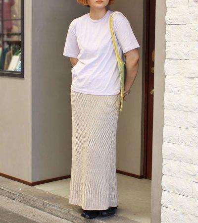 画像2: リネンニットスカート【Line Knit Skirt】