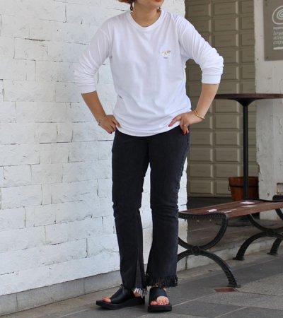 画像2: フリンジフレアデニムパンツ(ブラック)【circa make fringe denim pants】