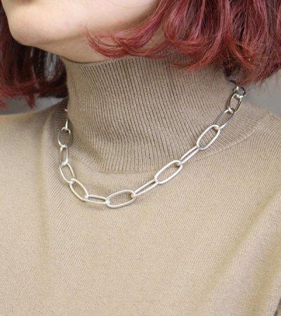 画像2: オーバルチェーンネックレス Oval Chain Necklace (Silver925)