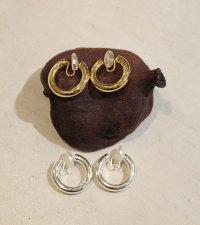 ミドルフープイヤリング Middle Hoop Earring (Silver925)